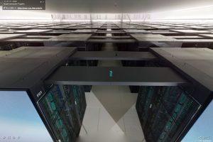 スーパーコンピューター「富岳」計算機室