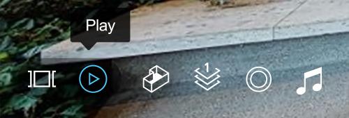 コントローラーのPlayボタンをクリックすれば、動画を自動再生することが出来ます。