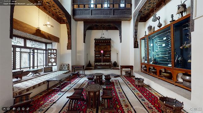 オスマン朝の栄光を感じさせるセレブレーションホールの展示物